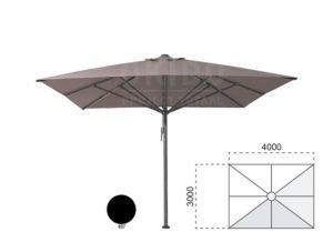 Horeca parasol vierkant Bella 300x400