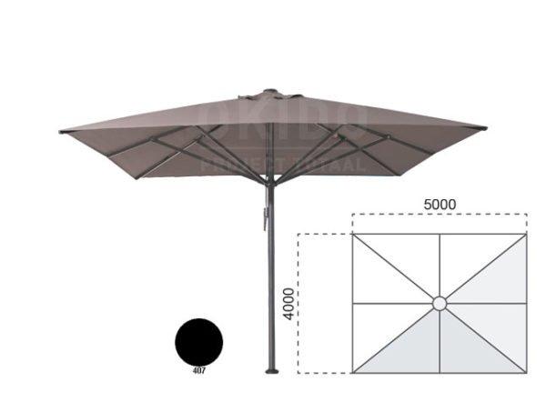 Horeca parasol vierkant Bella 400x500