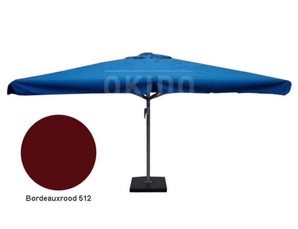 Horeca parasol karin 400x400 vierkant bordeauxrood