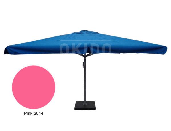 Horeca parasol karin 400x400 vierkant roze