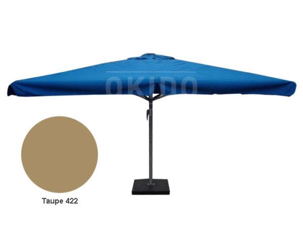 Horeca parasol karin 400x400 vierkant taupe