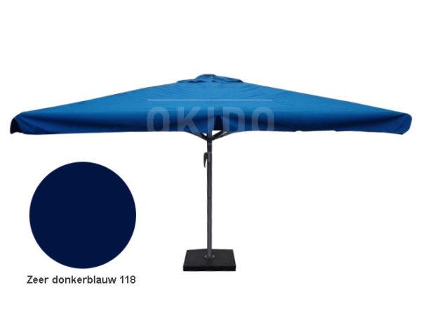 Horeca parasol karin 400x400 vierkant donkerblauw