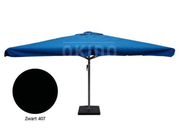Horeca parasol karin 400x400 vierkant zwart