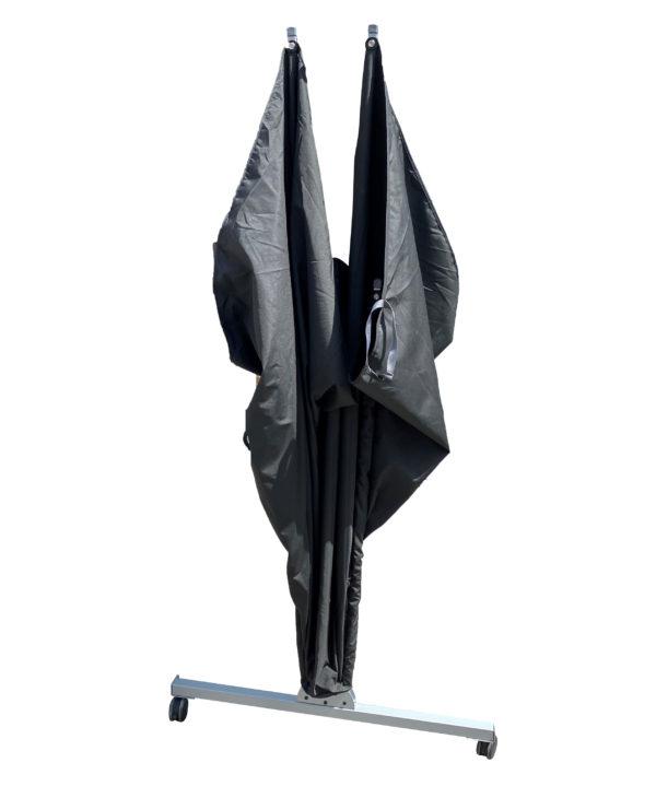 windscherm mobiel ingeklapt